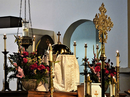 The Altar flowers add to the beauty of our worship.