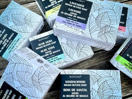 Le savon au beurre de mangue