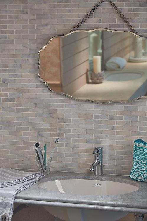 Island Marble Slim Brick Mosaic