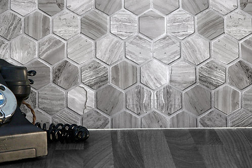 Driftwood Large Hexagon Mosaic