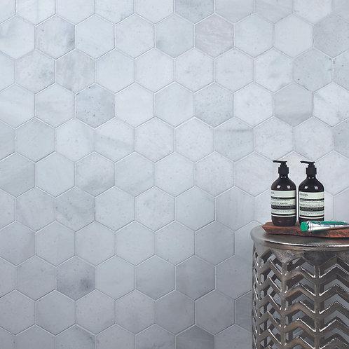 Long Island Marble Large Hexagon Mosaic