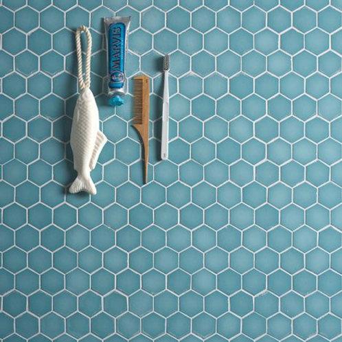 Brasserie Turquoise Matt Mosaic Glass