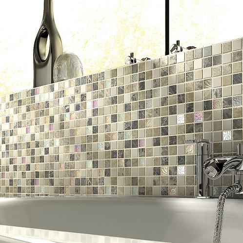 Emperador Cream Glass & Stone Mix Mosaic