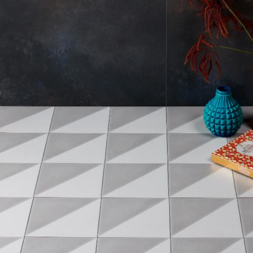 Parisian Café Tri Dove Grey Textured Porcelain