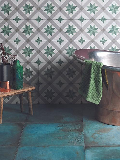 Moroccan Impressions Joya Green Satin Porcelain