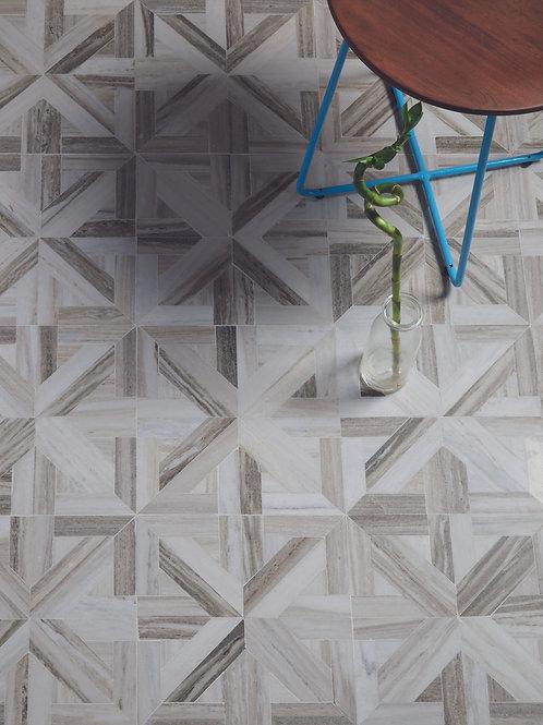 Tokyo Lattice Marble Mosaic Honed