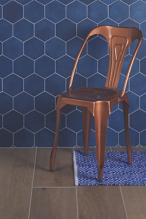 Medina Hexagon Navy Blue Matt Porcelain