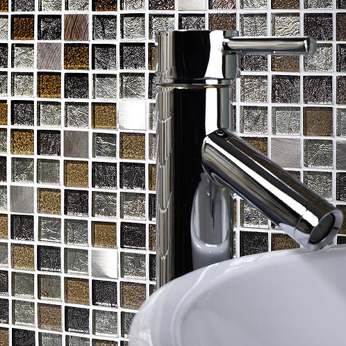 Atlas Gold Glass & Metal Mix Mosaic