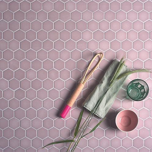 Brasserie Pink Matt Mosaic Glass