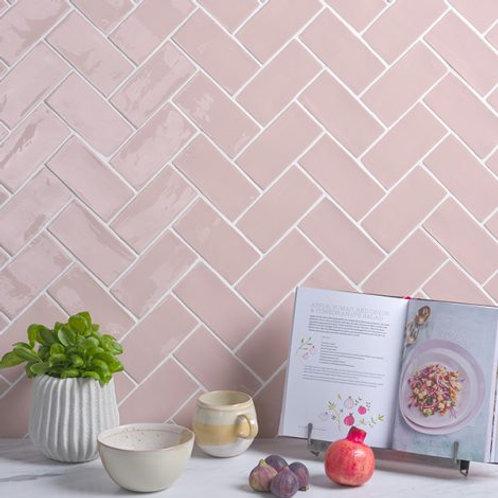 Seaton Pink Sands Crackle Gloss Ceramic