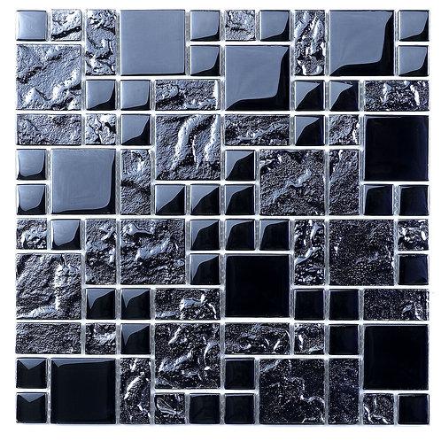 Black Reflective Mix Glass Modular Mosaic