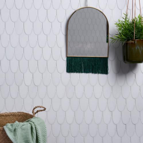 Plume Swan Marble Mosaic Honed
