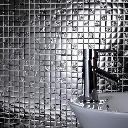 Chrome Pattern Glass Mosaic