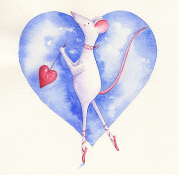 Mabel blue heart
