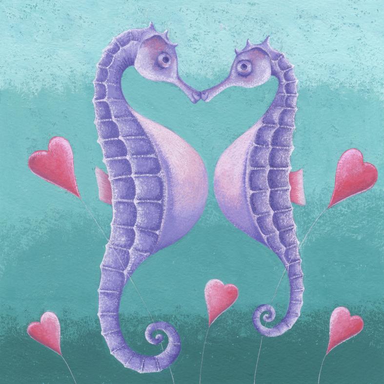 Seahorses & Hearts