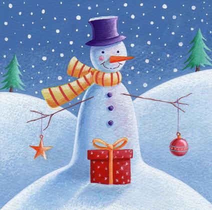 Snowman & Baubles