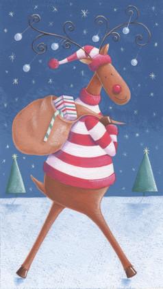 Reindeer & sack