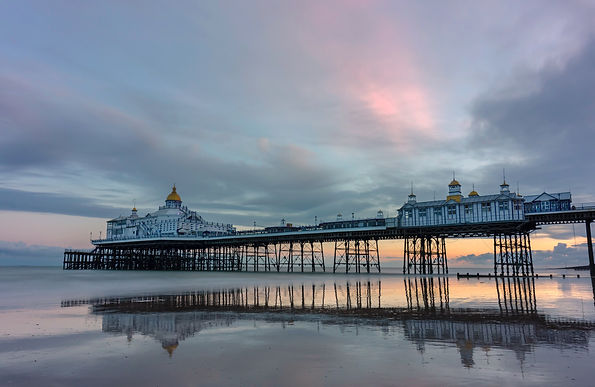 Eastbourne pier at sunset by Paul Norris Photo