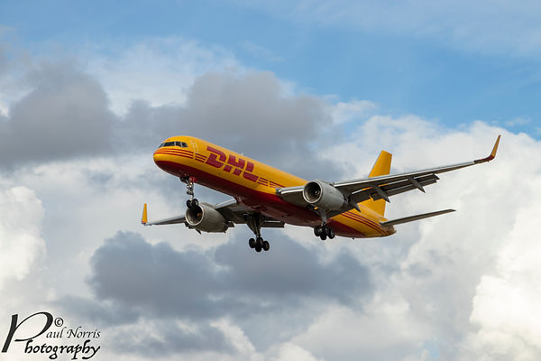 DHL Airbus on final approach to Heathrow