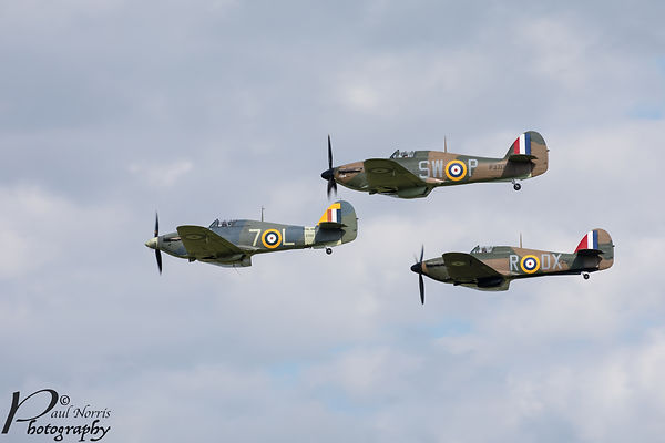 Flying in formation during Shuttleworth air show 2019