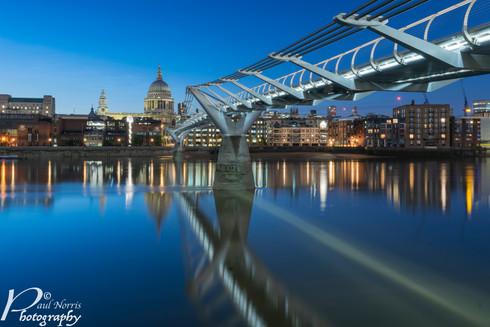 Millennium bridge leading to St Paul's cathedral