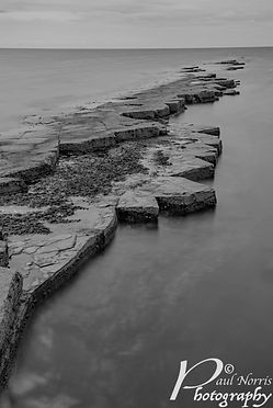 Jurassic Coast in black & white by Paul Norris Photo