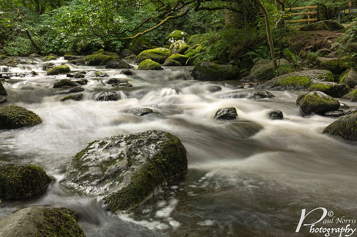 Fast flowing river near Aber Falls, North Wales by Paul Norris Photo