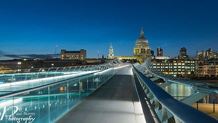 Millennium Bridge leading to St Paul's cathdral