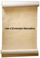 Law of Excluded Alternatives