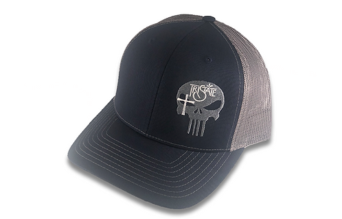 Navy/Charcol Brim Cap - TriState Skull Logo