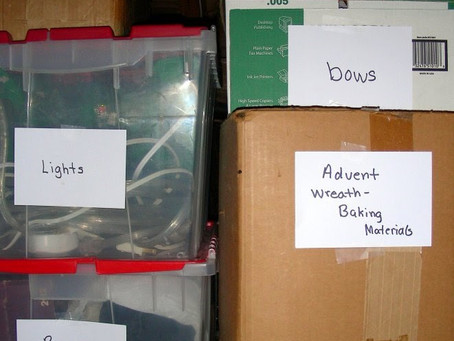 Organizing the Attic or Basement Zone