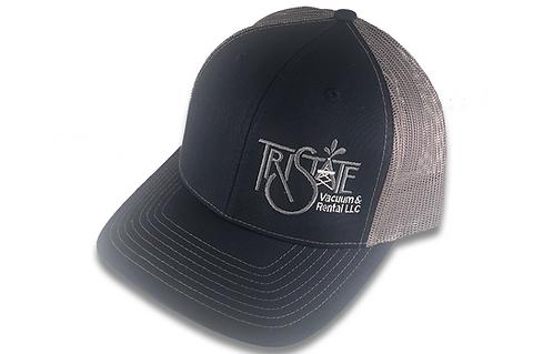 Navy/Charcol Brim Cap - TriState Vacuum Logo