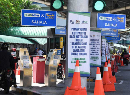 No more bridge tolls for motorcyclists in Penang