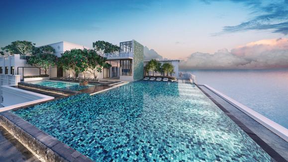 Rooftop Infinity Sky Pool
