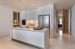 open kitchen in living hall