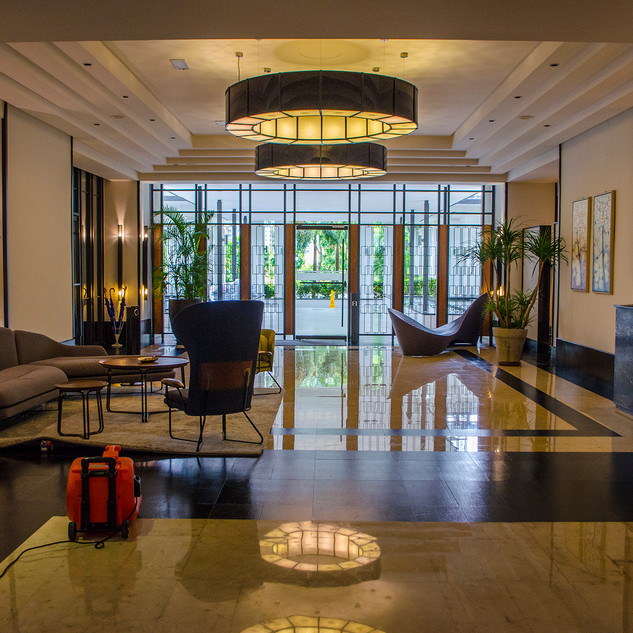 Private lobby with concierge services