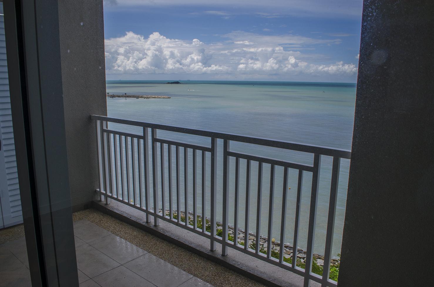 sea facing from balcony