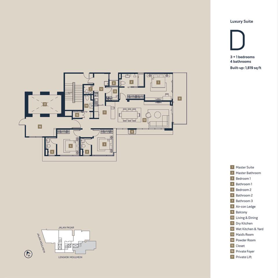 樓盤 D - 1,819 平方呎