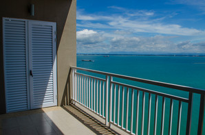 standing on main balcony