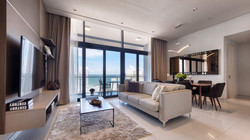 living hall with spectacular view