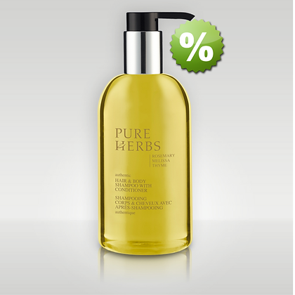 Гель-шампунь для тела и волос с дозатором Pure Herbs Shampoo HB