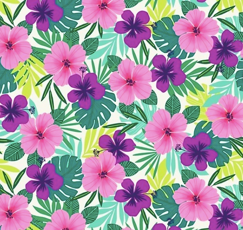 Studio e's 'Flamingo Beach' collection Tropical flowers
