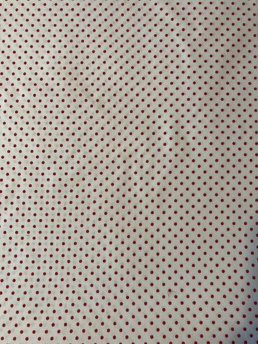 Sevenberry fabric, red mini polka dot on cream