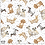 Thumbnail: Michael Miller's 'Paws up; precious pets' fabric on grey