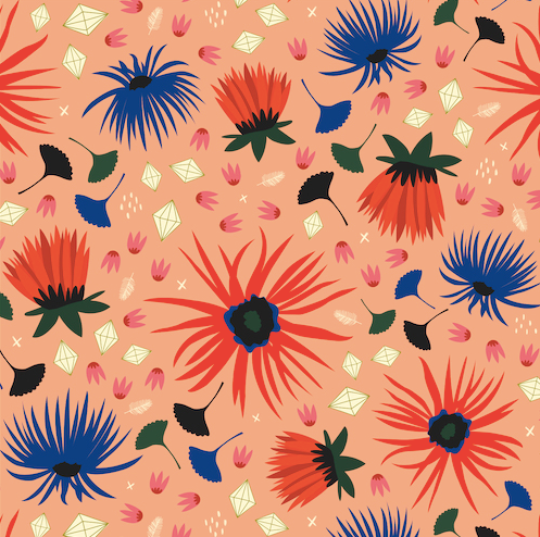 Dahlia Blush from Cloud 9 fabrics