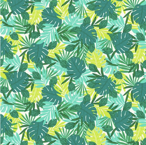 Studio e's 'Flamingo Beach' collection Tropical leaves
