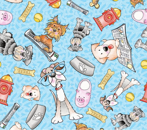 Blank Quilting's Dogs Gone Fun fabric