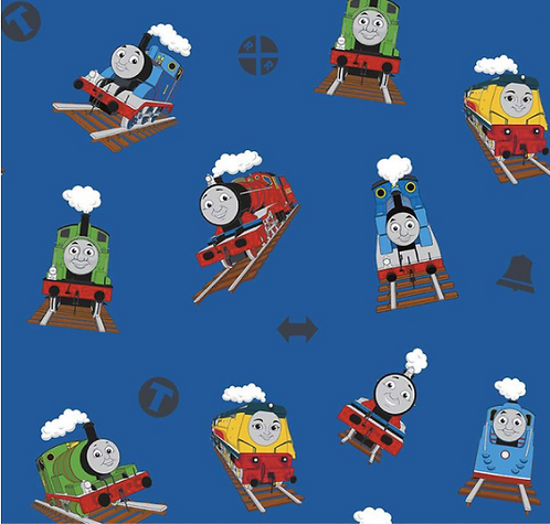 Thomas and Friends fabric from Riley Blake