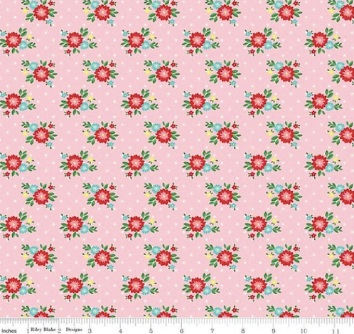 Riley Blake's Simple Goodness vintage style floral print in pink