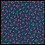 Thumbnail: Sevenberry fabric, petite classic 'little cherries on blue'